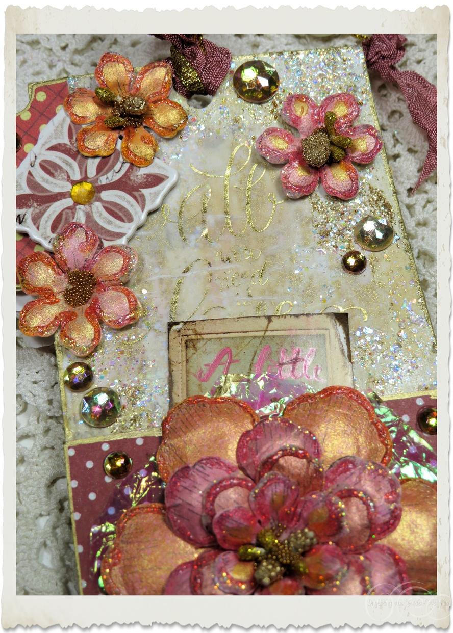 Details of gold glitter